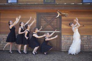 бросание букета невесты