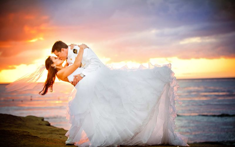 military-wedding-during-sunset-in-san-diego