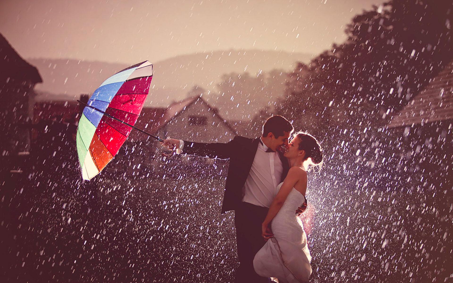 Как сделать свое фото в дожде