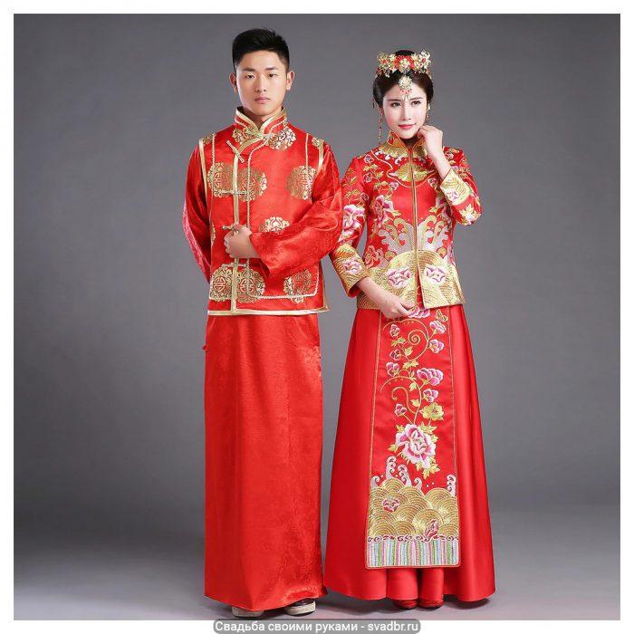 Chinese traditionele Bruid kleding pratensis stijl trouwjurk vrouwelijke draak jurk slanke cheongsam - Свадьба своими руками - Традиционная китайская свадебная одежда (фото)